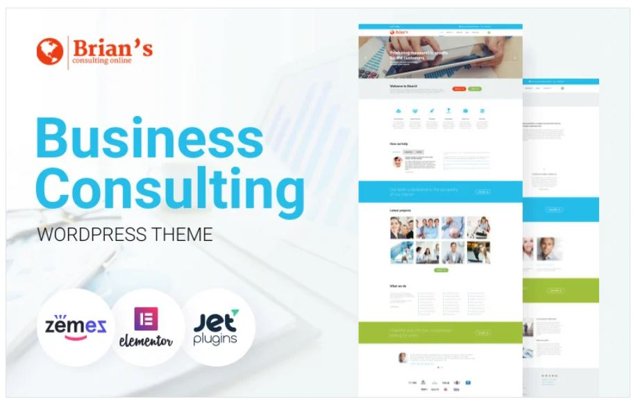 the Brian's Business Consulting WordPress theme