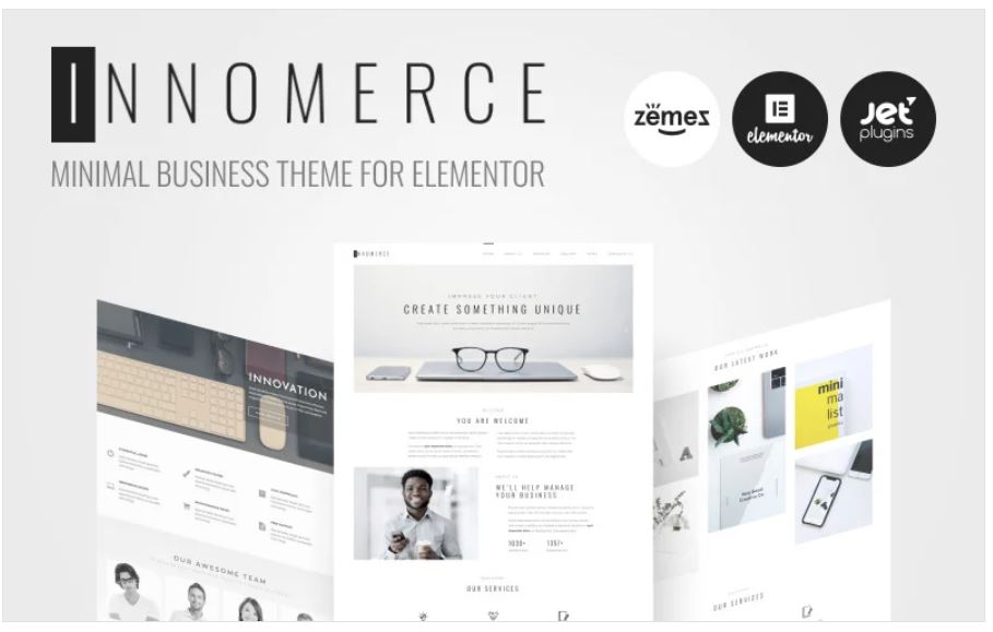 the Innomerce business wordpress theme