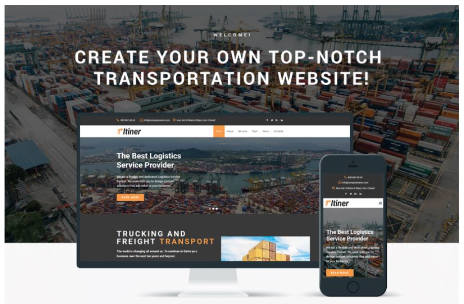 the Itiner transportation business theme