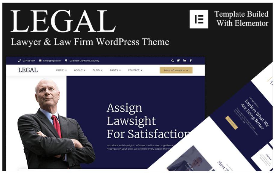 the Legal business wordpress theme