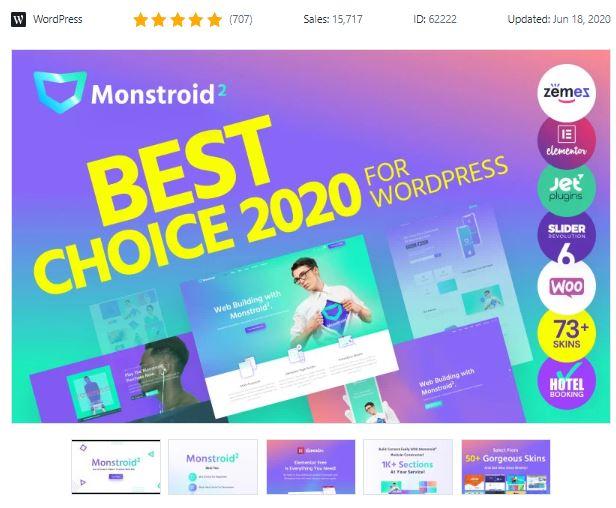 The Monstroid2 Business WordPress Theme