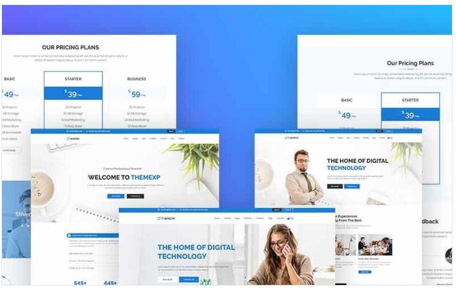 the themexp corporate responsive wordpress theme