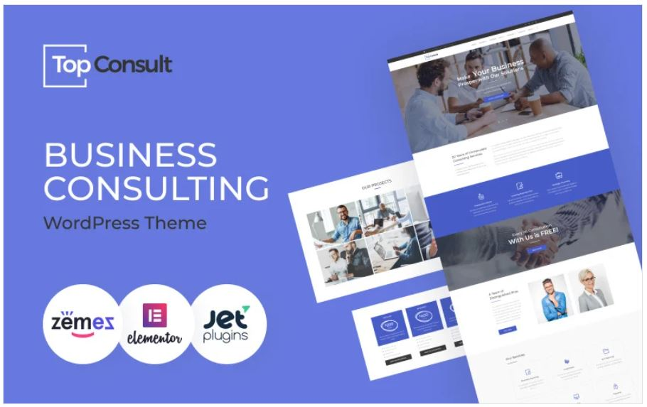 Top Consult - Business Consulting WordPress Theme