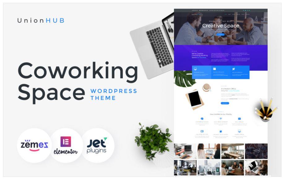 the UnionHub business wordpress theme