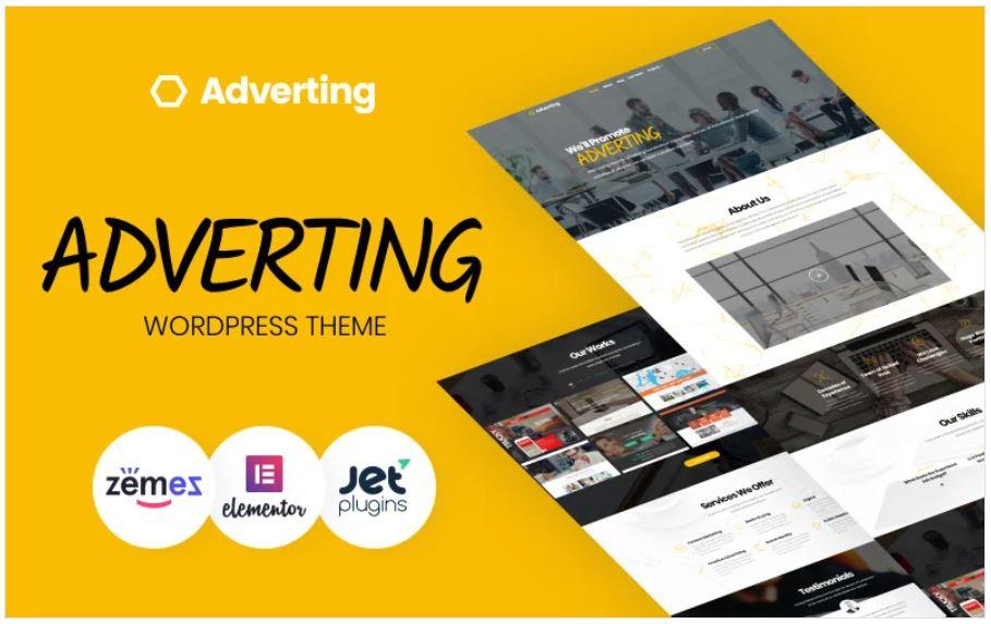 The Adervting Agency WordPress theme