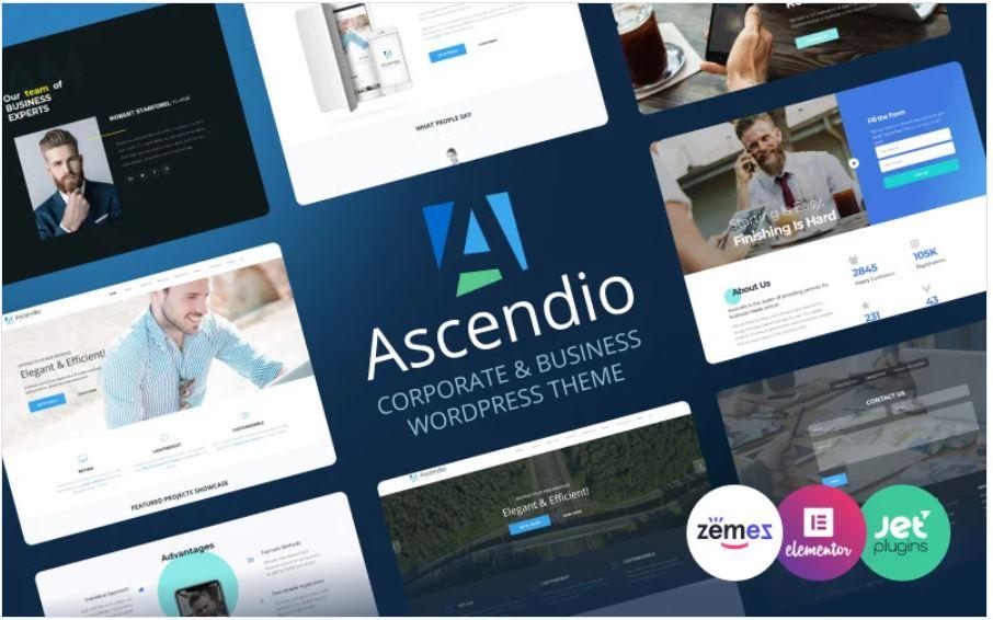 the ascendio business wordpress theme