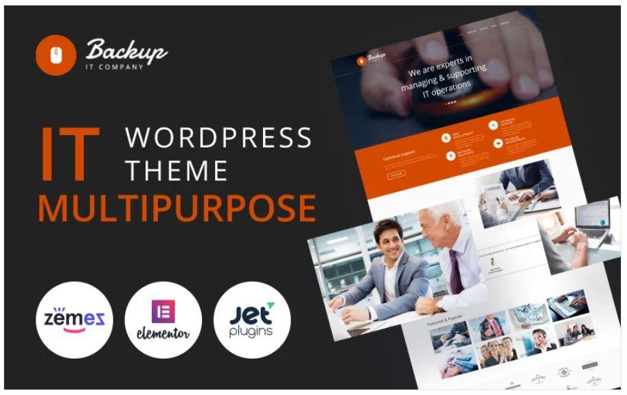 the Backup multipurpose wordpress theme