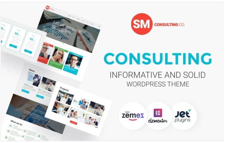 the consulting co business theme