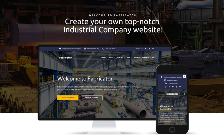 the fabricator business wordpress theme
