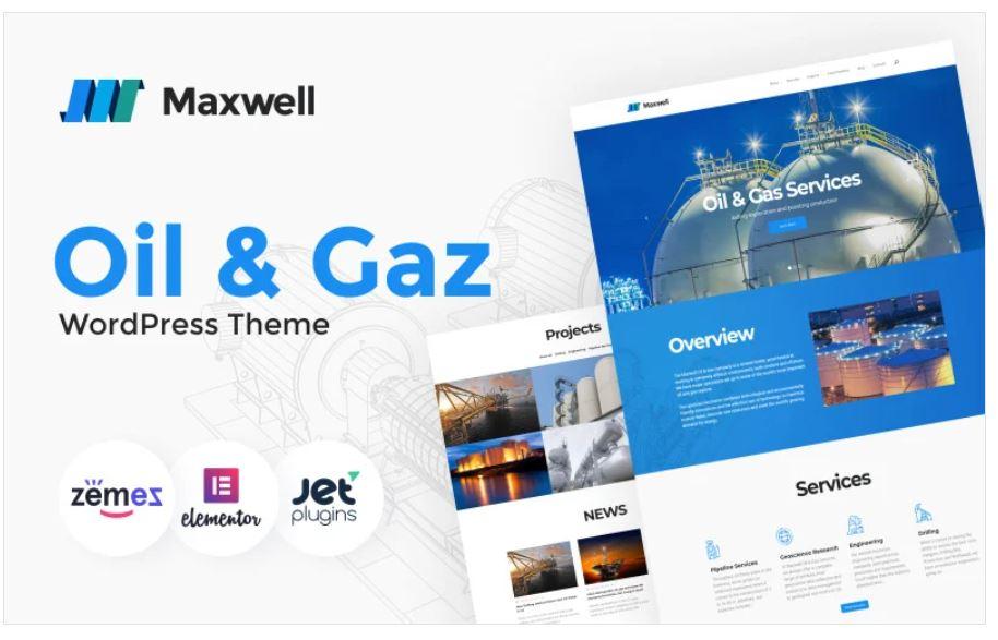 the maxwell business wordpress theme