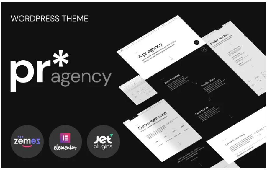 pr agency business wordpress theme