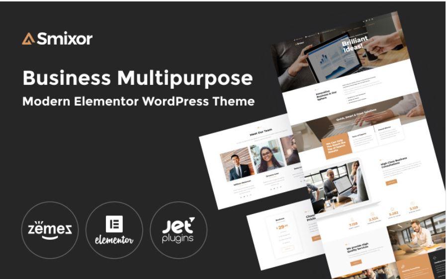 the smixor wordpress business wordpress theme