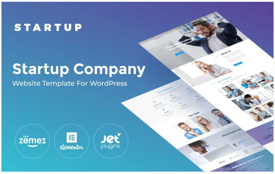 the startup company business wordpress theme