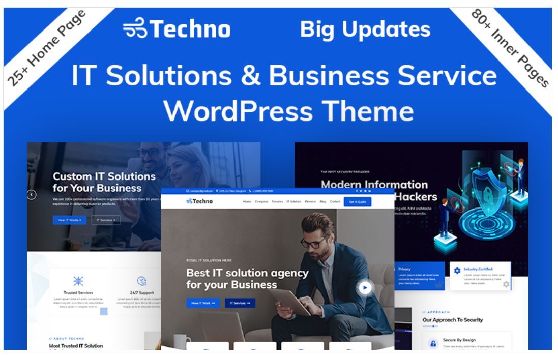 The techno IT Solutions & Business service wordpress theme