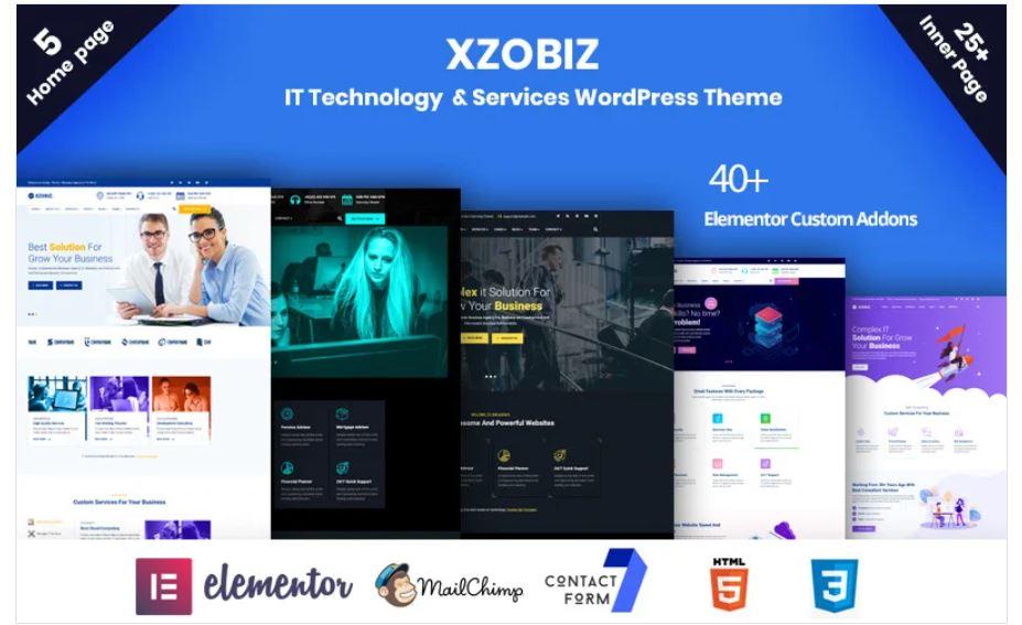 the xzobiz business wordpress theme