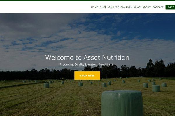 Asset Nutrition designed by JL Web Design