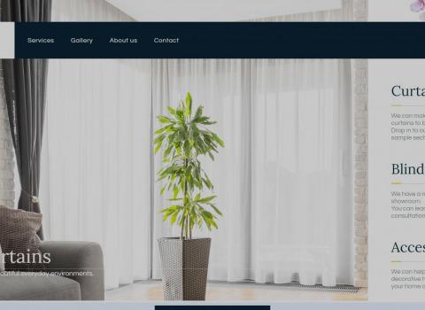 Blind Design website created by JL Web Design