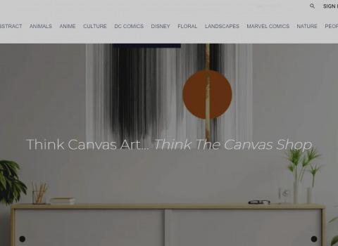 The Canvas Shop Website designed by JL Web Design
